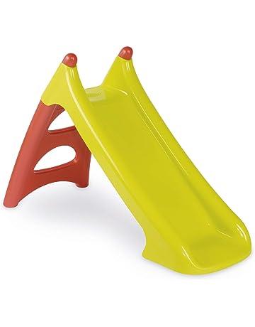 Smoby 310270-Tobogán pequeño XS Rojo (+3 años), Color verde 310270