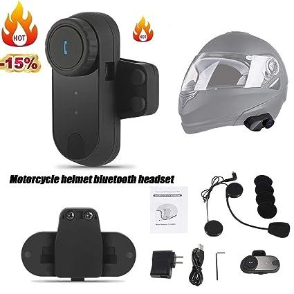 StageOnline Auriculares Bluetooth estéreos inalámbricos para el Casco de la Motocicleta, Kits del Receptor de