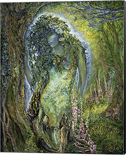 Spirit of The Forest by Josephine Wall Canvas Art Wall Picture, Museum Wrapped with Black Sides, 16 x 20 inches