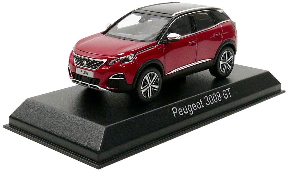 Norev – 3008 GT 2016 Peugeot vehículo en miniatura, 473884, rojo Metal, (escala 1/43