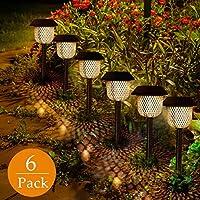 Luces Solars de Jardín GolWof 6 Piezas Led Lámpara Solar Exterior Decoración Iluminación de Caminos Sin Cables…