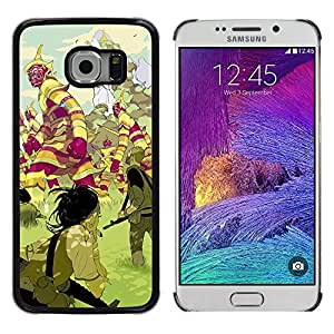 Paccase / SLIM PC / Aliminium Casa Carcasa Funda Case Cover - Mystical Land Creatures Fairytale - Samsung Galaxy S6 EDGE SM-G925