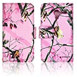 Pink Camo Cute Real Oak Tree Mossy Faux Leather Wallet Purse clutch Handbag Motorola Moto X Phone Case Cover with Clear Slot for ID, Credit Card Slots and Hidden Slot for Cash, Bags Central