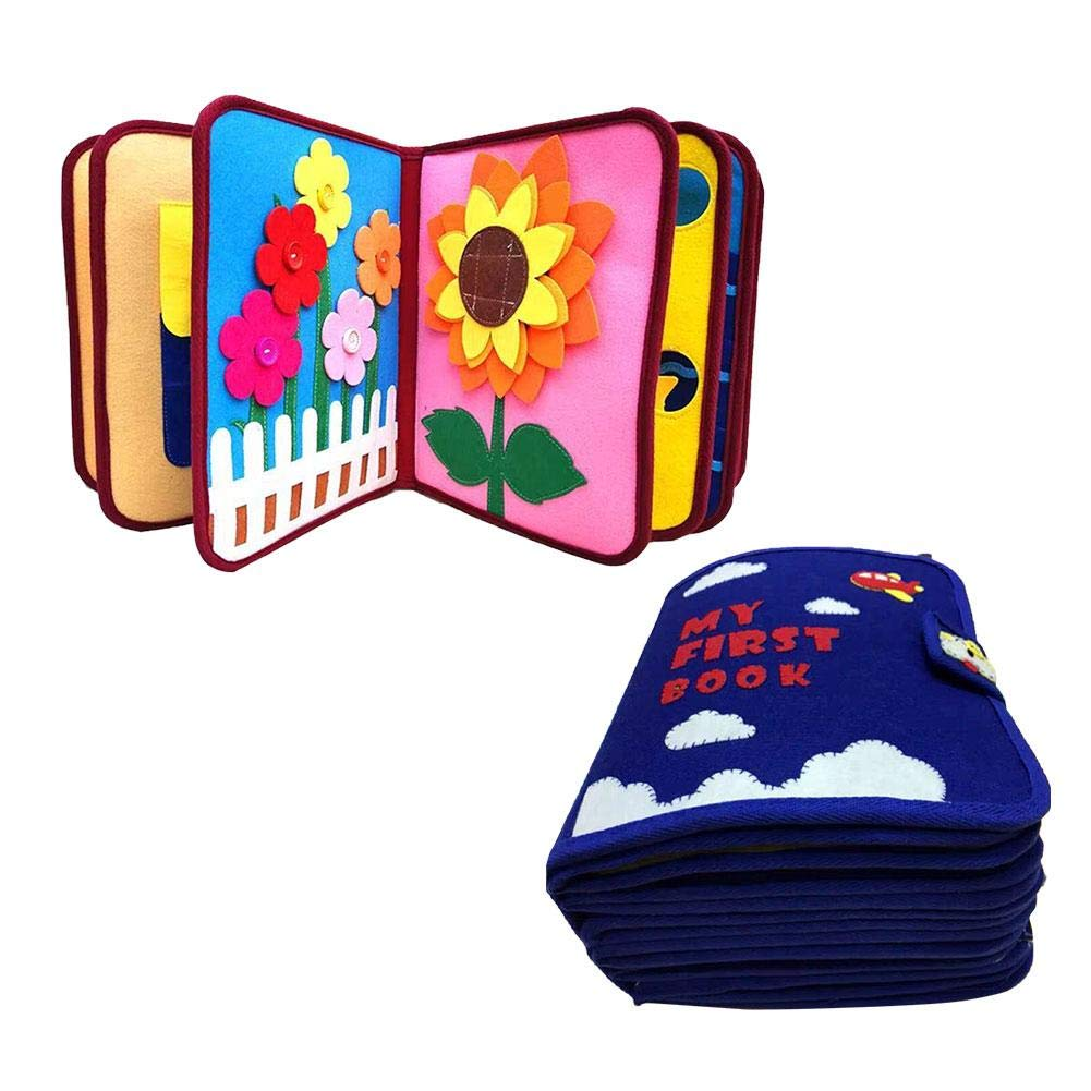 Libro De Beb/é Ultra Suave Libro De Tela De Tacto Y Tacto Libro De No Tejido Manual 3D Para Beb/és Y Ni/ños Peque/ños Aprender A Libro Sensorial Identificar serviceable Betteros Libro De Tela Para Ni/ños