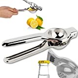 Indian Craftio Pure Stainless Steel Lemon Squeezer, Best For This Summer Season, Two In One Squeezer (Opener + Squeezer)