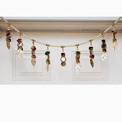 Amazon Com Jern Diwali Toran Door Hanging Handmade Ethnic Pearls