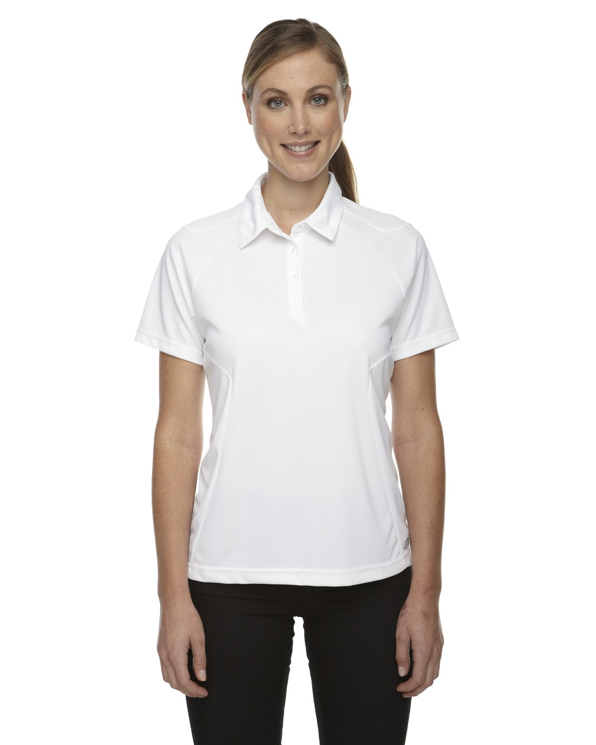 Ash City Womens Dolomite Performance Polo (Small, White) by Ash City Apparel