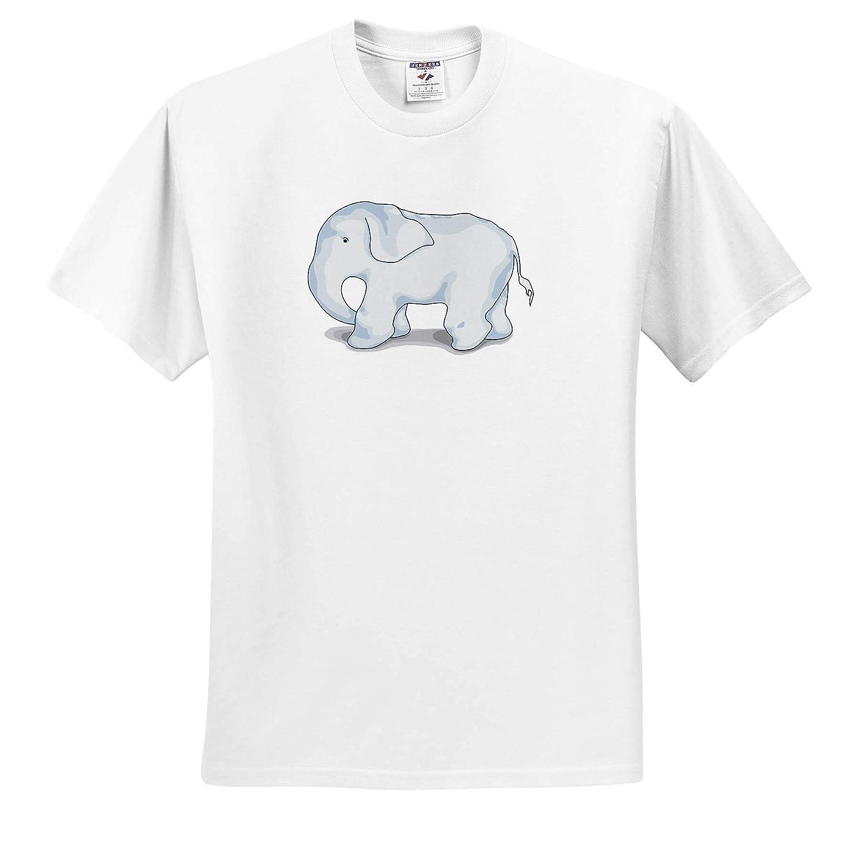 Animals T-Shirts - Blue Baby Elephant 3dRose Warya