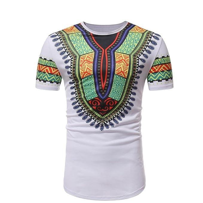 FAMILIZO Camisas Hombre Manga Corta Africano Floral Estilo Blusa Men'S T Shirts Polos Manga Corta Hombre Polos Slim Fit Hombre… XTTk5OmD