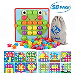 Fansteck Button Art Toy for Toddlers, Co...