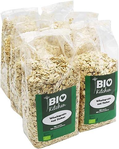 BioKitchen - Copos de avena ecológicos (6 envases de 500 g): Amazon.es: Alimentación y bebidas