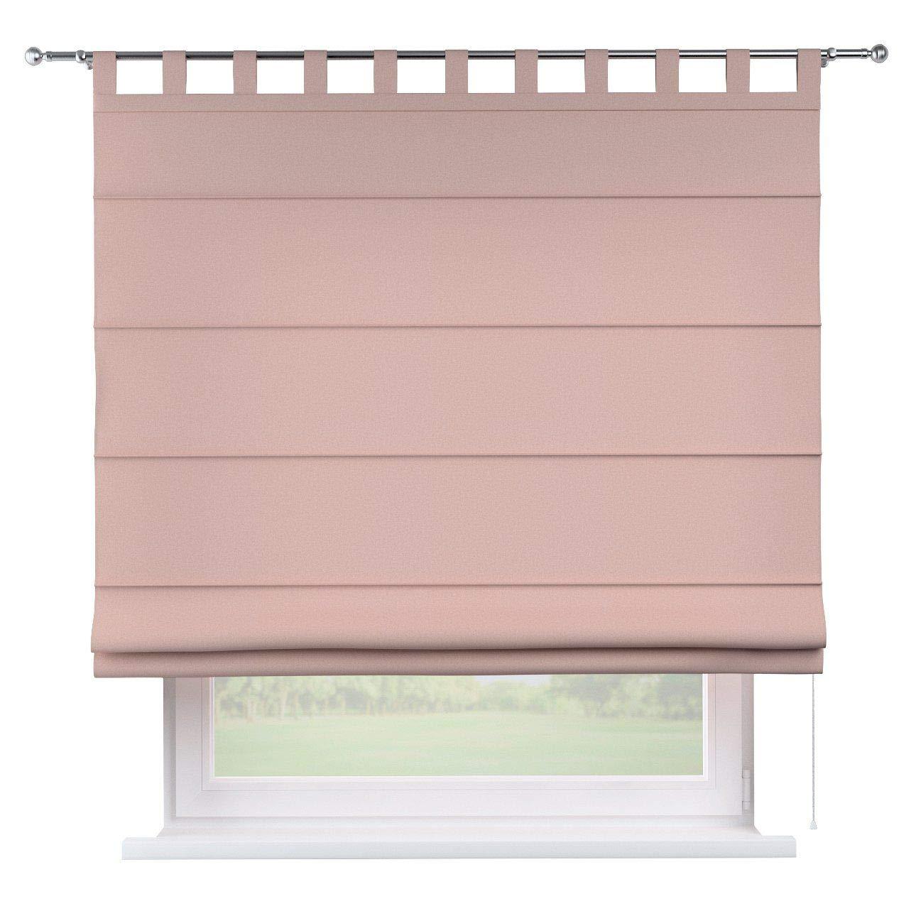 Dekoria Raffrollo Verona ohne Bohren Blickdicht Faltvorhang Raffgardine Wohnzimmer Schlafzimmer Kinderzimmer 130 × 170 cm rosa Raffrollos auf Maß maßanfertigung möglich