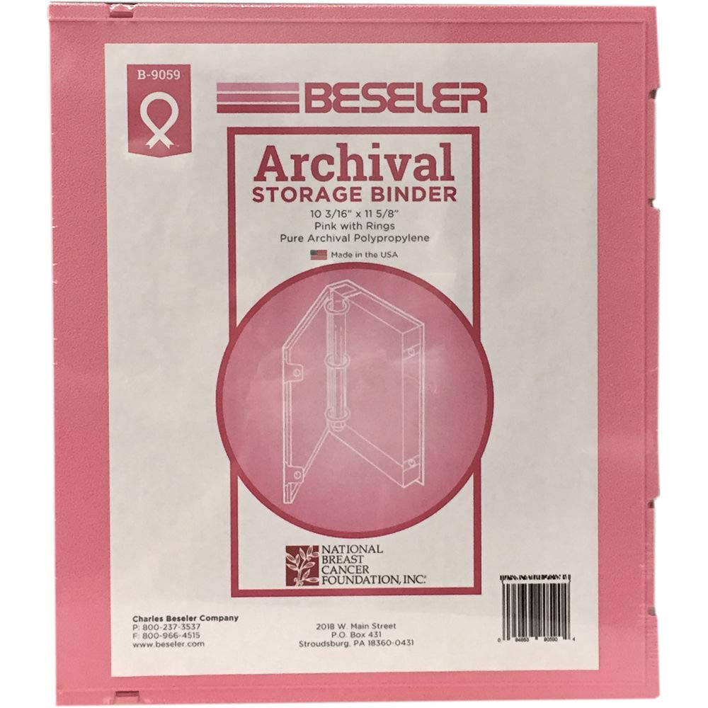 Besfile Archival Binder with Rings - Pink