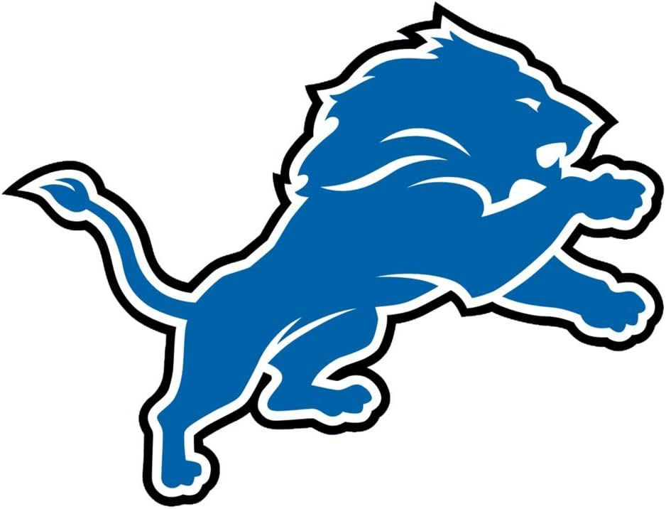 Detroit Lions Logo OriginalStickers0243 Set Of Two (2x) Stickers , Laptop , Ipad , Car , Truck , Size 4 inches on Longer Side
