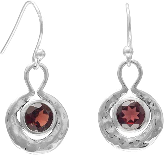 925 Sterling Silver Designer Drop /& Dangle Earring Jewelry Length 1.75 Red Garnet Round Shape Gemstone Earring For Easter Sale sve5426