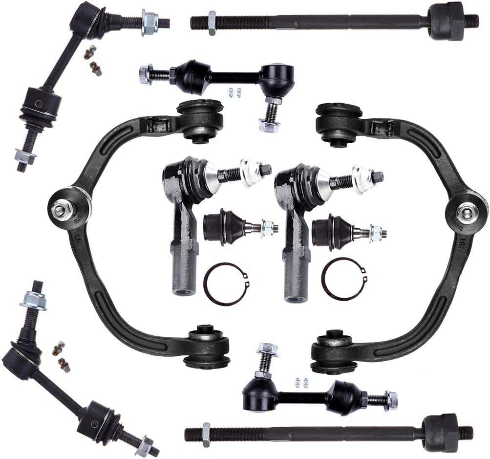 INEEDUP NEW 12 Set of Tie Rod Ends Lower Ball Joints Front Sway Bar Links Upper Control Arms Rear Sway Bar End Links Compatible with for 2003-2004 Ford Expedition 2003-2004 Lincoln Navigator