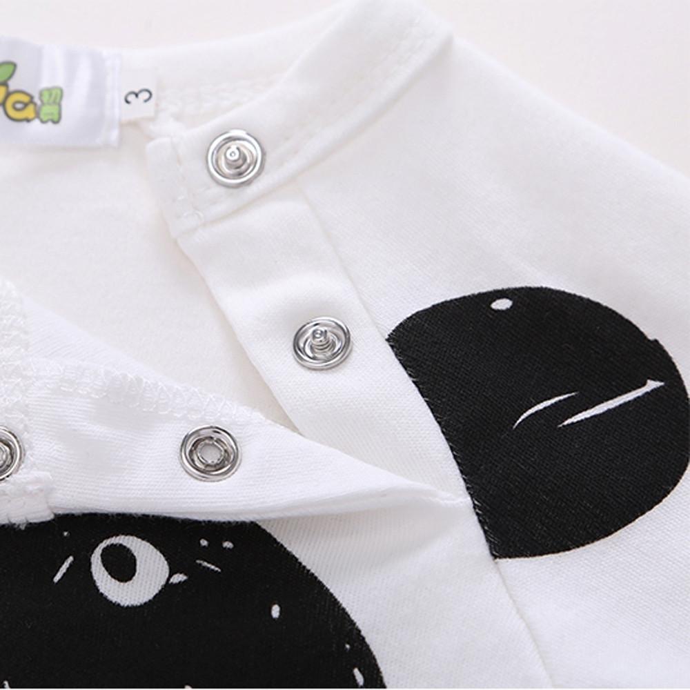 Memela W Unisex-Baby Cute Panda Cotton Bodysuit 0-24 Mos
