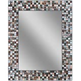 "Headwest 1211 Earthtone Copper-Bronze Mosaic Tile Wall Mirror, 24 inches by 30 inches, 24"" x 30"""