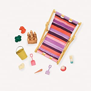 """Beach Accessory Set for 18"""" Dolls -Our Generation """"Day at the Beach"""""""