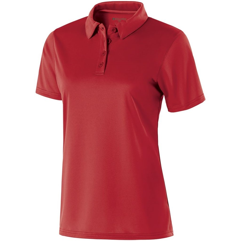 Holloway Ladies Dry Excel Shift Polo (X-Small, Scralet) by Holloway