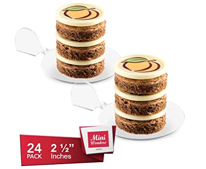 MINI WONDER SMALL ROUND DESSERT PLATES - Petite Plates - Tiny Clear Plastic Flat Tray with  sc 1 st  Amazon.com & Amazon.com | MINI WONDER SMALL ROUND DESSERT PLATES - Petite Plates ...