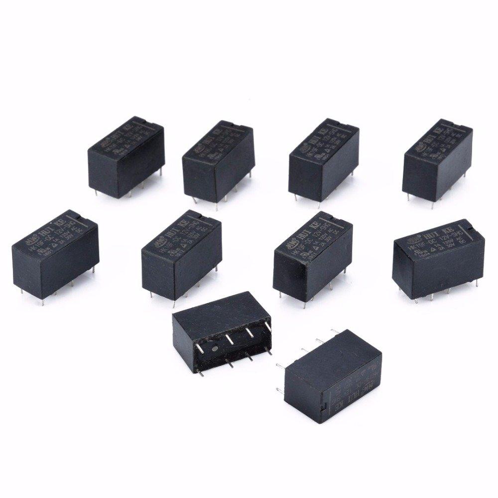 100/Hk19/F Mini Power Relais DC 12/V PCB Typ SHG Coil DPDT 8/Pin Mini Power Relais Set