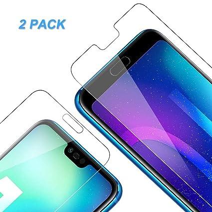 2 Pezzi Antigraffi Anti-Impronte Nessuna Bolla Vkaiy Huawei Honor 10 Pellicola Protettiva in Vetro Temperato - Durezza 9H Alta Trasparente Facile da Installare,