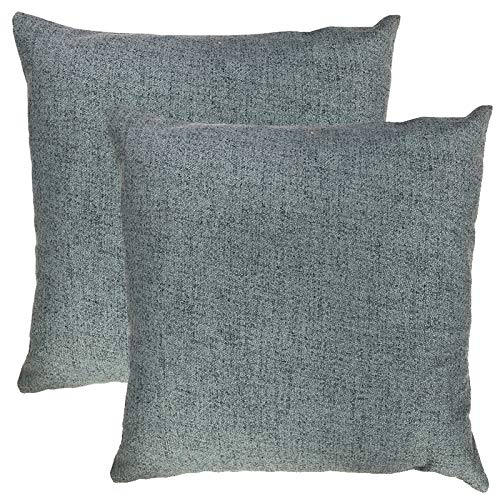Rodeo Home Roxanne Decorative Throw Pillows for sofa, couch, Bed, Set of 2 Pillows, 20x20, Includes Feather Down Insert (Denim, - Denim Feathers