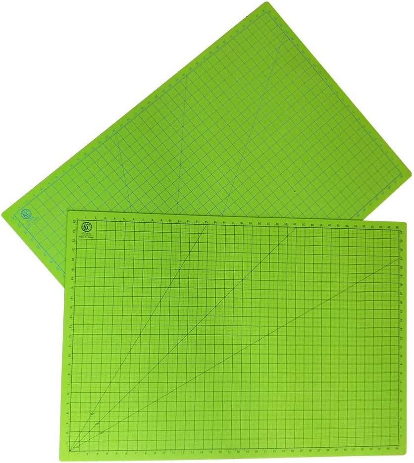 - Odor-Free Double-Side Professional Grade Self-Healing Cutting Mat 19 x 13 in. Crafting Non-Slip Neon Green Eco-Friendly Model Building and Art Project Premium desk mat for DIY KC GLOBAL A3