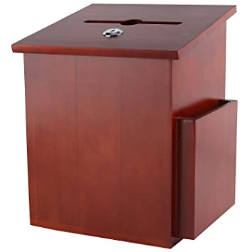 dark mahogany furniture. My Charity Boxes ~ Wood Suggestion Box Ballot With Pocket Locking  Hinged Lid Dark Mahogany Furniture