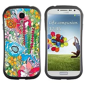 "Pulsar iFace Series Tpu silicona Carcasa Funda Case para SAMSUNG Galaxy S4 IV / i9500 / i9515 / i9505G / SGH-i337 , Pintura Hipster pétalos Naturaleza Positivo"""