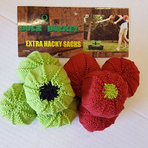 Hacky Sacks by Bulzibucket - 6 Pack Hacky Sacks for Bulzi Bucket