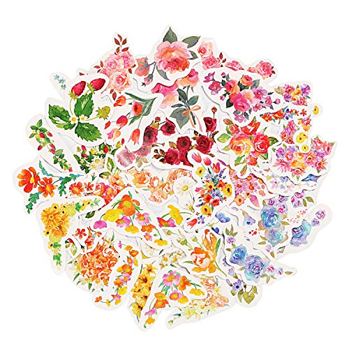 Molshine 270pcs Flower Decals for Personalize Laptops, Skateboards, Luggage, Cars, Bumpers, Bikes, Bicycles