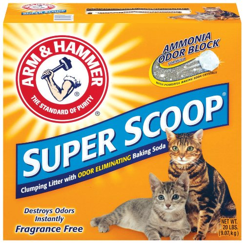 Arm and Hammer Super Scoop Clumping Litter, Unscented, 20-Pounds, My Pet Supplies