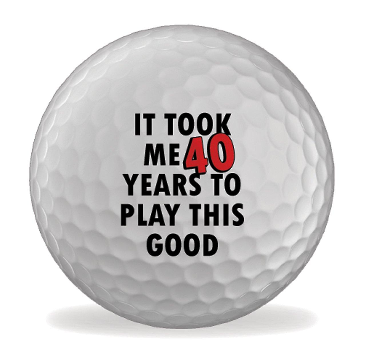 4227236e3969 x 6 MeこのLong Took It Birthday 40th Printedゴルフボール B01CNVKPUS ...