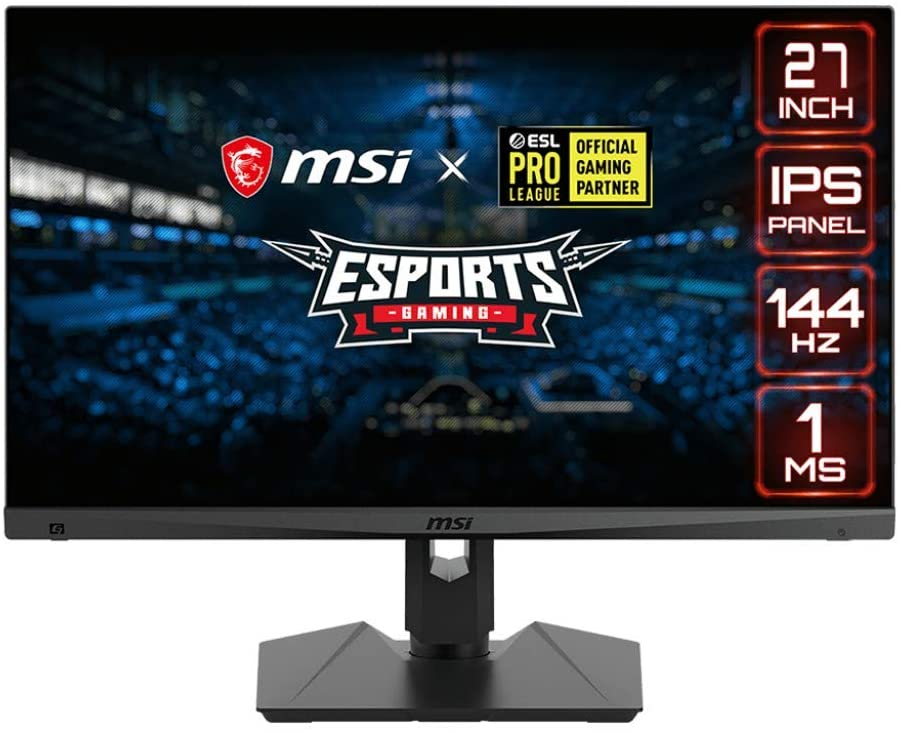 "MSI Full HD Gaming RGB Non-Glare Super Narrow Bezel 1ms 1920 x 1080 144Hz Refresh Rate Adjustable Height Arm FreeSync 27"" IPS Gaming Monitor (Optix MAG274R)"