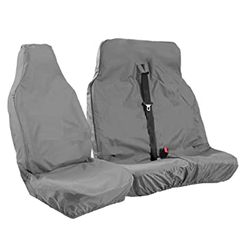 DOUBLE CAB GREY NYLON FULLY WATERPROOF SEAT COVERS 1+1 HI-LUX +