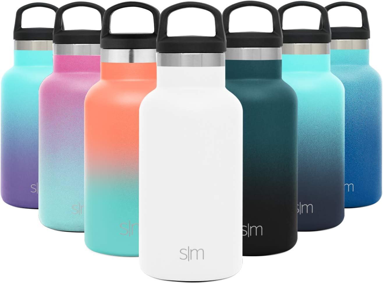 Simple Modern 350mL Ascent Termo Botella de Agua de Acero Inoxidable con Tapa de Asa, Botella termica con boca estrecha, aislada al vacío, doble pared, sin BPA para Deporte o Viaje, Prueba de Fugas