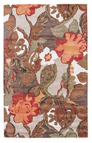 (Jaipur Living Petal Pusher Hand-Tufted Floral & Leaves Brown Area Rug (2' X)