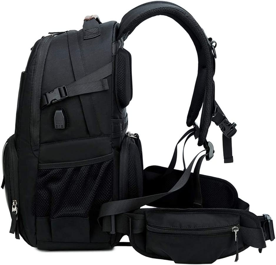 18 30 47cm Black and Gray Handbag Xruyang Carrier-Bag Knapsack New SLR Camera Bag Waterproof Anti-Theft Shock Travel Backpack with Rain Cover Tripod Lens and Accessories