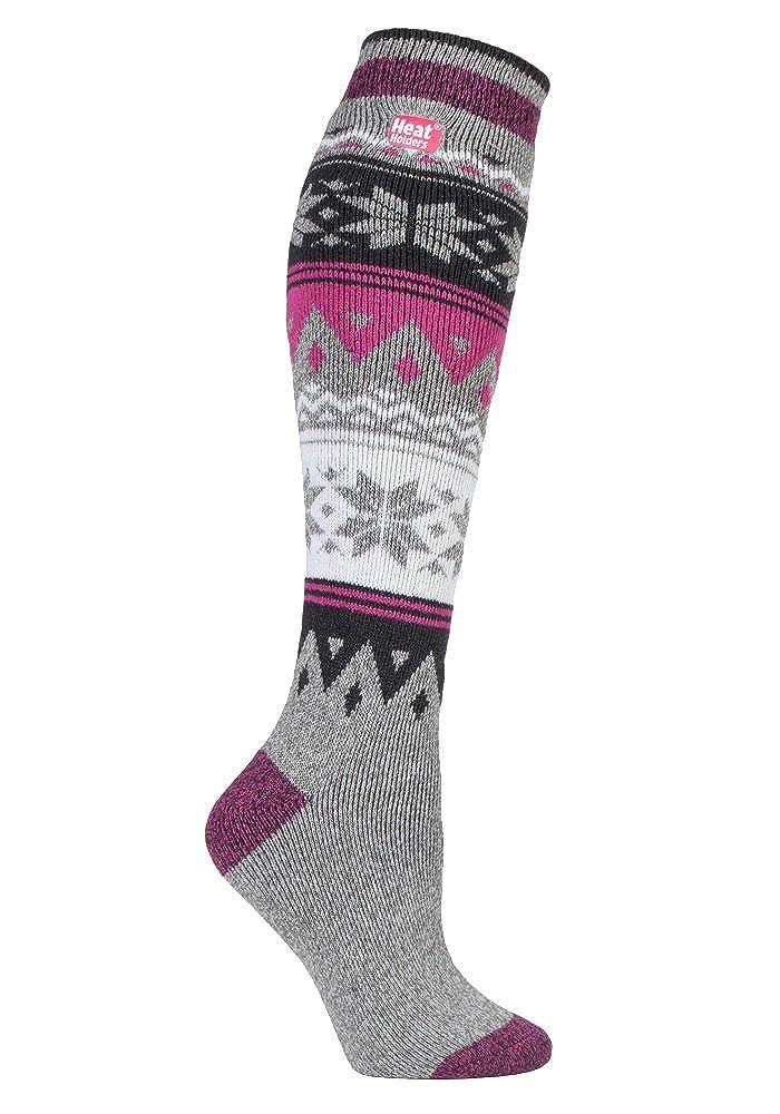 Heat Holders Lite - Womens Thin Long Knee High Patterned Casual Thermal Socks Broughton) HHLITELONG