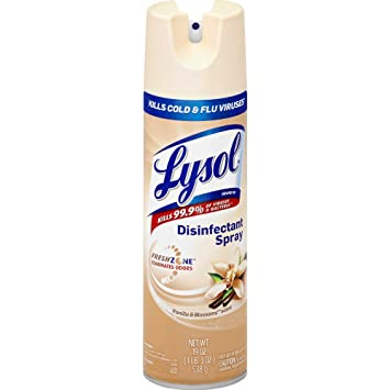 amazon com lysol disinfectant spray vanilla blossoms 19oz health