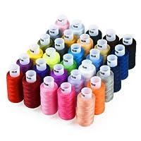 Candora Assortiment de fil à coudre Bobine 30Couleur de 228,6m chaque Polyester Fil à coudre kit tout usage Polyester Filetage