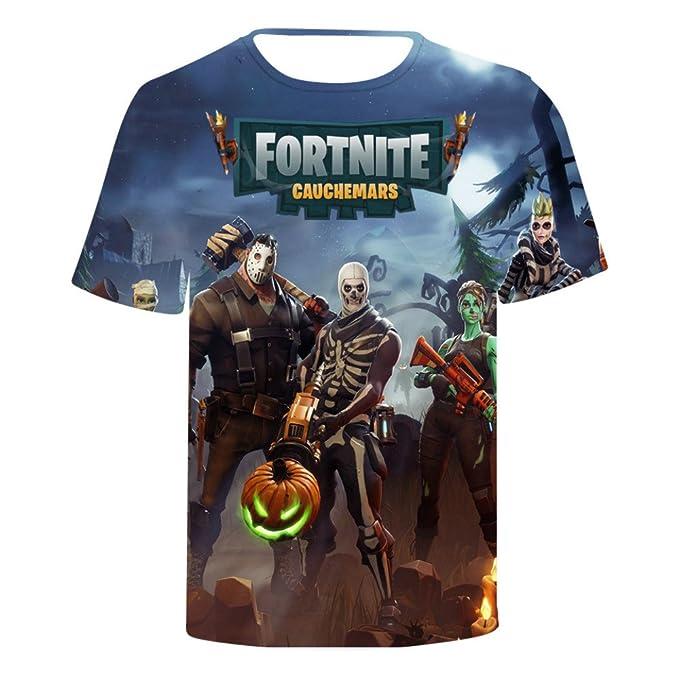 Fortnite Camiseta Estampado Top Sudaderas de Sport Manga Corta Blusa Camisetas Casual 3D Impresión Tops Fortnite T-Shirt FKwxqz