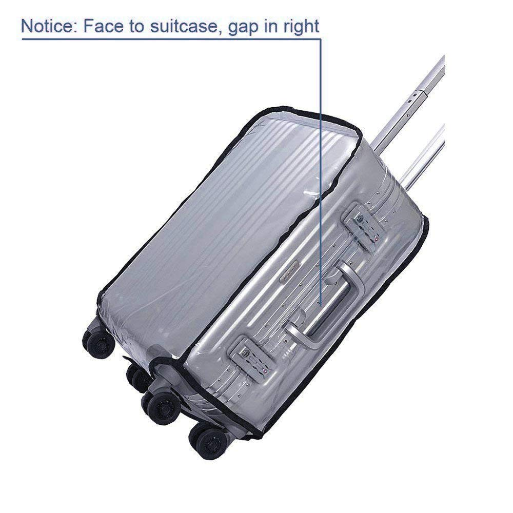 Luggage Cover, Clear PVC Luggage Suitcase Cover Travel Luggage Protector (22'') by HIGO MALL (Image #6)