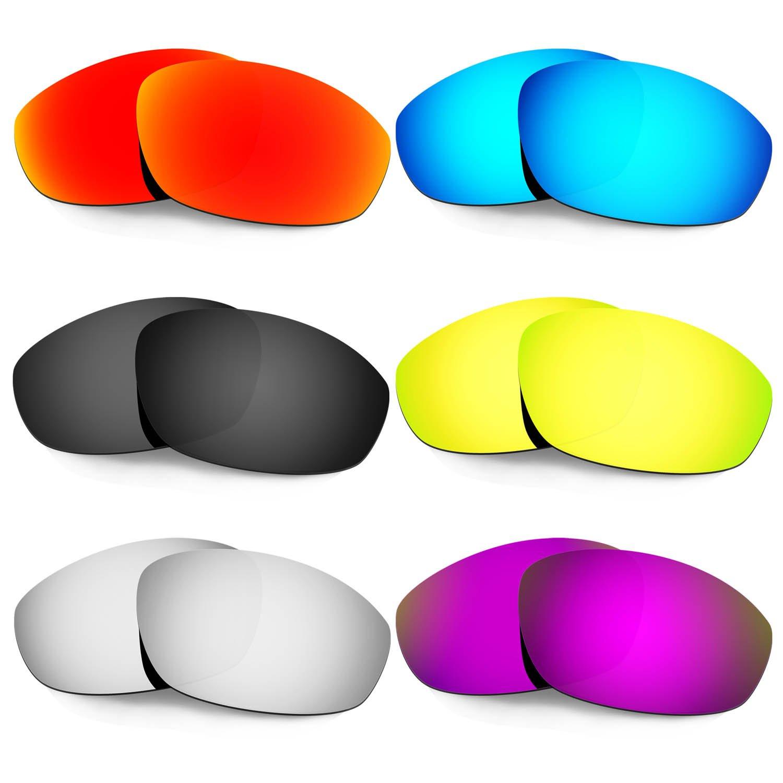 Hkuco 交換用レンズ For Oakley Whisker サングラス  レッド/ブルー/ブラック/ゴールデン/チタンカラー/パープル B073F83878