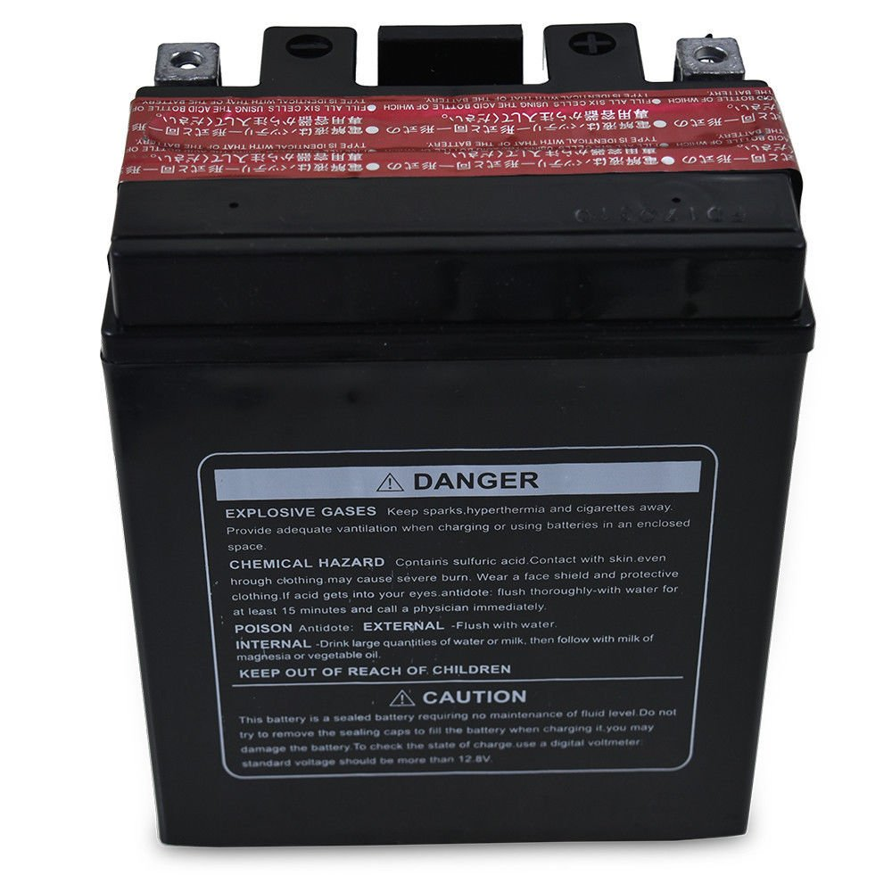 Amazon.com: ZXTDR YTX14AH-BS 12V 12Ah Motorcycle Battery for Yamaha YFM200 YFM225 YTM225DR YFM250 YFM350B: Automotive