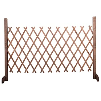 Portable Wooden Garden Gate Screen Expanding Wooden Fence Privacy Safety  Child