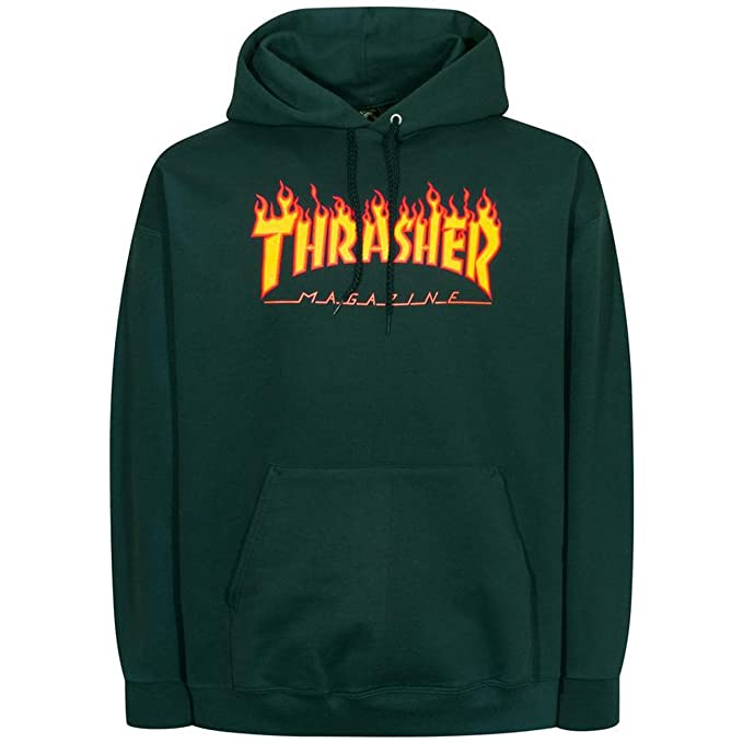 6504038c Thrasher Flame Logo (Forest Green) Hoodie-XLarge: Amazon.ca: Clothing &  Accessories