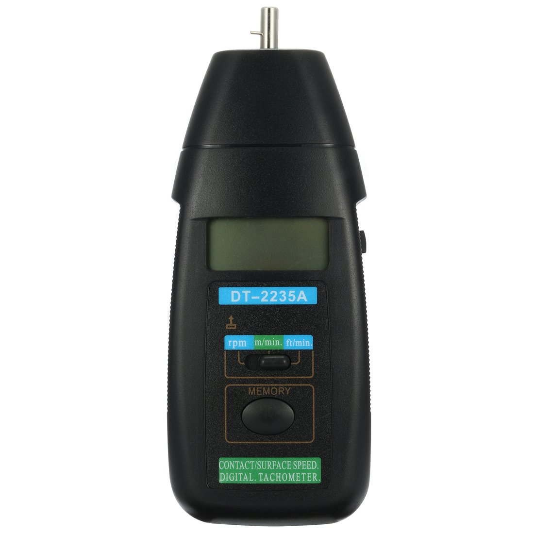 uxcell/® DT-2235A Contact Speed Digital Tachometer and Auto Ranging LCD Display Tach Motor Small Engine Speed RPM Gauge Meter